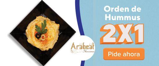 Arabeat 2x1 Orden de hummus