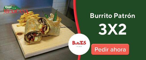 Burritos Grill y Algo Mas Burrito patrón 3x2