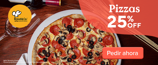 25% OFF Pizzas