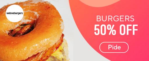 We Love Burgers 50% OFF Hamburguesas