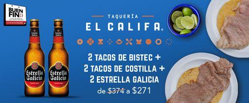 2 bistec + 2 costilla + 2 estrella galicia x 271