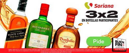 3x2 en botellas participantes