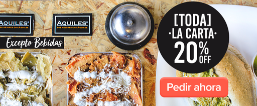 20% OFF Los mejores chilaquiles