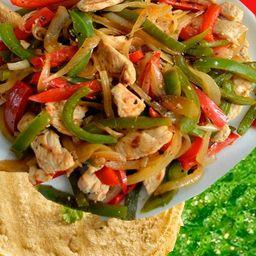 Fajitas de Pollo a la Plancha con Verduras