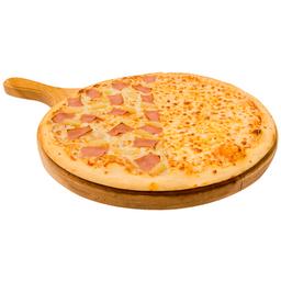Pizza Mitad Hawaiana y Mitad Doble Queso