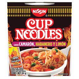 Nissin Sopa Instantanea Cup Noodles Camarón Con Hab y Limón