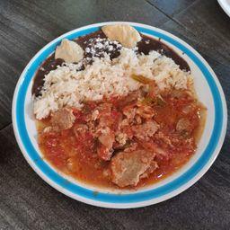 Bistec a la Mexicana .