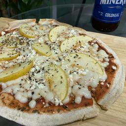 Pizza de Queso de Cabra y Manzana Personal