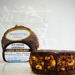 Chocolate Hazelnut Ice Cream Sándwich