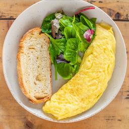 Omelette de Jamón y Queso Manchego o Panela