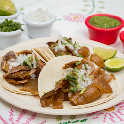 Tacos de Carnitas Surtidos