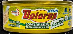 Lomo de Atún Dolores Aleta Amarilla en Aceite 140 g
