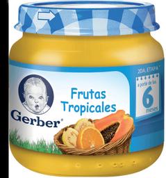 Papilla Gerber  Etapa 2 Frutas Tropicales 113 g