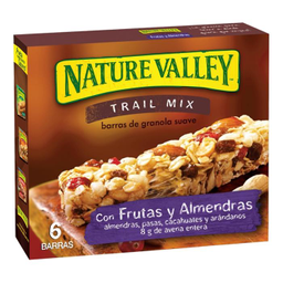 Barra de Granola Nature Valley Fruta y Almendras 35 g x 6