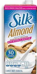 Leche de Almendras Silk Almond Sin Endulzante 946 mL