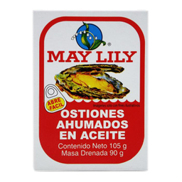 Ostiones May Lily Ahumados en Aceite 105 g