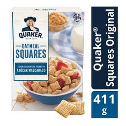 Cereal Quaker Oatmeal Squares Azúcar Mascabado 411 g