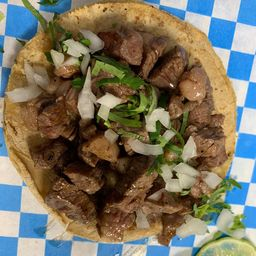 Tres Tacos de Rib Eye Añejo