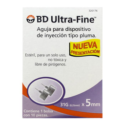 Aguja BD Ultra Fine Tipo Pluma 10 U