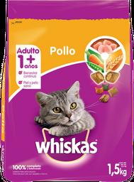 Alimento Para Gato Whiskas Pollo y Leche 1.5 Kg