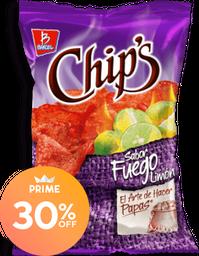 Botana Chip's Fuego Limón 170 g