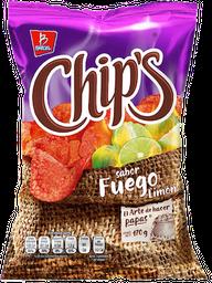Botana Chip's Papas Fuego Limón 170 g