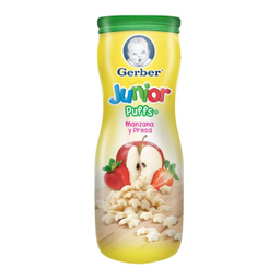 Gerber Junior Puffs Fresa Manzana