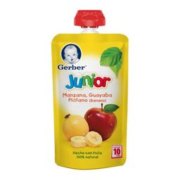 Papilla Gerber Junior Manzana Guayaba y Plátano 120 g