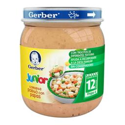 Papilla Gerber Junior Pollito Con Papas 12 Meses 250 g