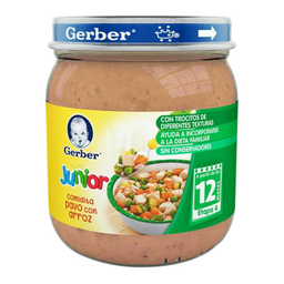 Papilla Gerber Junior Pavo Con Arroz 250 g