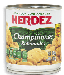 Champiñones Herdez Rebanados 186 g