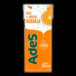 Bebida a base de soya con jugo de naranja