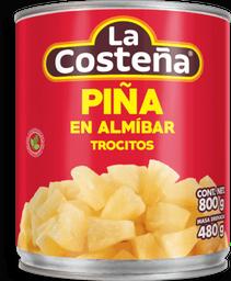 Piña en Almíbar La Costeña en Trocitos 800 g