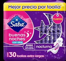 Toallas Saba Femeninas Buenas Noches Nocturna Con Alas 30 U