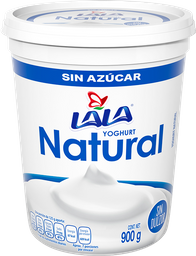 Yogurt Lala Natural Sin Azúcar 900 g
