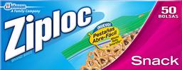 Bolsas Herméticas Ziploc Snack Abre-Fácil 50 U
