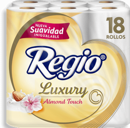 Papel Higiénico Regio Luxury Almond Touch 18 U
