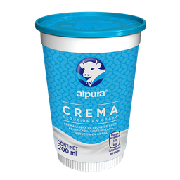 Crema Alpura Reducida en Grasa 200 mL
