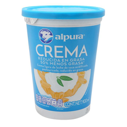 Crema Alpura Reducida en Grasa 900 mL