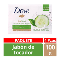 Jabón de Tocador Dove Go Beauty Bar 100 g x 4