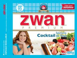 Salchicha de Pavo Zwan Cocktail 500 g
