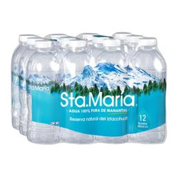 Agua Santa María Natural 355 mL