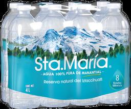 Agua Sta. María Pura de Manantial 500 mL x 6