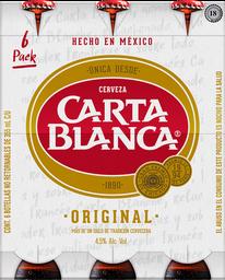Cerveza Carta Blanca Clara Botella 355 mL x 6