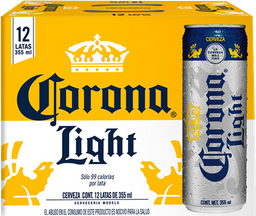 Cerveza Corona Light Clara Lata 355 mL x 12