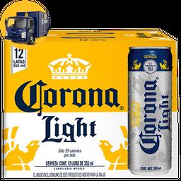 Cerveza Corona Light Clara Lata 355 mL x 12