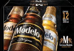 Cerveza Modelo Premium Botella 355 mL x 12