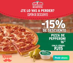 15% OFF en Pepperoni Pizza
