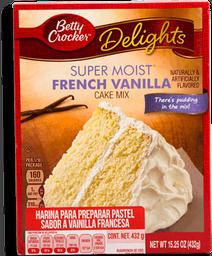 Harina Betty Crocker Super Moist sabor Vainilla 432 g