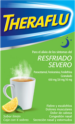 Theraflu Exthegan Noche Sabor Limón 6 U (650 mg/20 mg/10 mg)